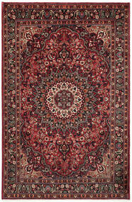 Moud Rug 195X295 Authentic  Oriental Handknotted Dark Red/Dark Brown (Wool/Silk, Persia/Iran)