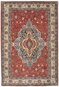 Sarouk Rug 200X296 Authentic  Oriental Handknotted Dark Red/Light Grey (Wool, Persia/Iran)