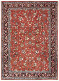Sarouk Rug 214X302 Authentic  Oriental Handknotted Dark Red/Light Grey (Wool, Persia/Iran)