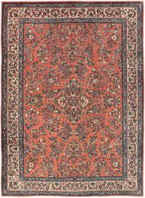 Sarouk Rug 225X311 Authentic  Oriental Handknotted Dark Red/Dark Grey (Wool, Persia/Iran)