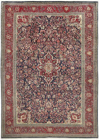 Sarouk Rug 222X312 Authentic  Oriental Handknotted Light Grey/Dark Red (Wool, Persia/Iran)