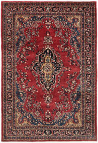 Hamadan Shahrbaf Rug 209X315 Authentic  Oriental Handknotted Dark Red/Dark Blue (Wool, Persia/Iran)