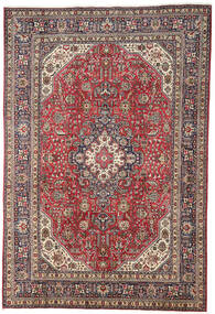 Tabriz Rug 196X298 Authentic  Oriental Handknotted Dark Red/Light Grey (Wool, Persia/Iran)