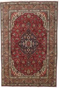 Tabriz Rug 193X290 Authentic  Oriental Handknotted Dark Brown/Dark Red (Wool, Persia/Iran)