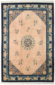 China Antiquefinish Rug 198X297 Authentic Oriental Handknotted Light Pink/Dark Blue (Wool, China)