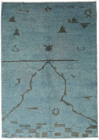 Ziegler Modern Rug 173X247 Authentic  Modern Handknotted Dark Turquoise  /Blue (Wool, Pakistan)