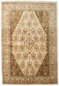 Ziegler Rug 167X246 Authentic  Oriental Handknotted Light Brown/Dark Beige (Wool, Pakistan)