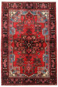 Nahavand Rug 133X205 Authentic Oriental Handknotted Dark Brown/Dark Red (Wool, Persia/Iran)