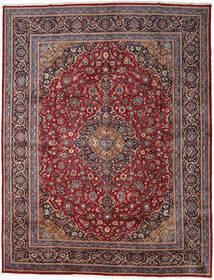 Keshan Rug 297X384 Authentic  Oriental Handknotted Dark Red/Dark Brown Large (Wool, Persia/Iran)