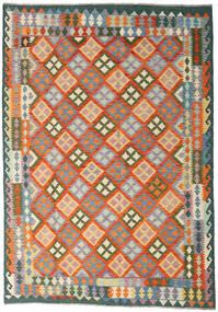 Kilim Afghan Old Style Rug 170X243 Authentic  Oriental Handwoven Orange/Dark Grey (Wool, Afghanistan)