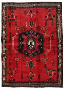 Afshar Rug 169X236 Authentic Oriental Handknotted Crimson Red/Dark Brown (Wool, Persia/Iran)
