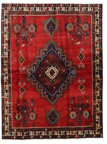 Afshar Rug 164X220 Authentic Oriental Handknotted Rust Red/Dark Red/Black (Wool, Persia/Iran)