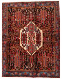 Afshar Rug 168X217 Authentic  Oriental Handknotted Dark Red/Black (Wool, Persia/Iran)