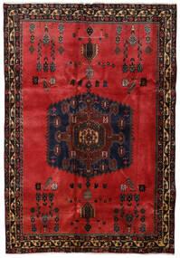 Afshar Rug 176X254 Authentic  Oriental Handknotted Dark Brown/Dark Red/Rust Red (Wool, Persia/Iran)