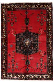 Afshar Rug 153X228 Authentic  Oriental Handknotted Crimson Red/Dark Brown (Wool, Persia/Iran)