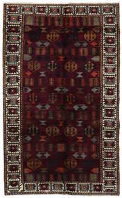 Lori Rug 148X244 Authentic Oriental Handknotted Dark Red/Dark Grey (Wool, Persia/Iran)