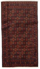 Baluch Rug 96X172 Authentic  Oriental Handknotted Dark Red/Dark Brown (Wool, Persia/Iran)