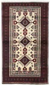 Baluch Rug 97X170 Authentic  Oriental Handknotted Dark Brown/Beige (Wool, Persia/Iran)