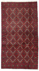 Baluch Rug 95X173 Authentic  Oriental Handknotted Dark Red/Crimson Red (Wool, Persia/Iran)