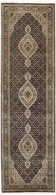 Tabriz Royal Rug 85X303 Authentic  Oriental Handknotted Hallway Runner  Light Grey/Dark Grey ( India)