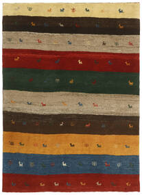 Gabbeh Persia Rug 123X176 Authentic  Modern Handknotted Dark Green/Crimson Red (Wool, Persia/Iran)