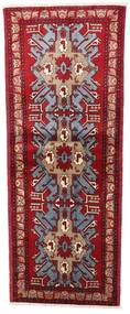 Turkaman Rug 77X196 Authentic  Oriental Handknotted Hallway Runner  Dark Red/Crimson Red (Wool, Persia/Iran)