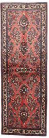 Sarouk Rug 76X220 Authentic  Oriental Handknotted Hallway Runner  Dark Brown/Brown (Wool, Persia/Iran)