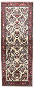 Sarouk Rug 78X209 Authentic  Oriental Handknotted Hallway Runner  Dark Brown/Dark Red (Wool, Persia/Iran)