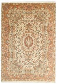 Tabriz 50 Raj Rug 205X297 Authentic  Oriental Handwoven Beige/Brown (Wool/Silk, Persia/Iran)