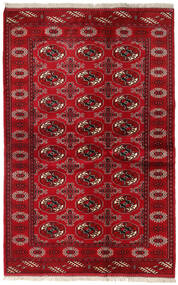 Turkaman Rug 131X202 Authentic  Oriental Handknotted Dark Red/Crimson Red (Wool, Persia/Iran)