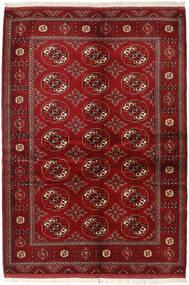 Turkaman Rug 136X200 Authentic  Oriental Handknotted Dark Red/Crimson Red (Wool, Persia/Iran)