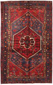 Hamadan Rug 130X208 Authentic Oriental Handknotted Dark Red/Black (Wool, Persia/Iran)