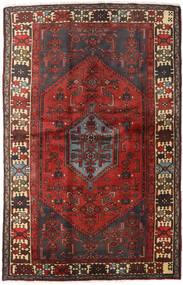 Hamadan Rug 127X197 Authentic Oriental Handknotted Dark Red/Dark Brown (Wool, Persia/Iran)