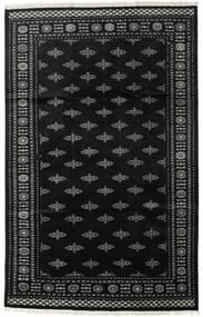 Pakistan Bokhara 2Ply Rug 199X312 Authentic  Oriental Handknotted Black/Dark Grey (Wool, Pakistan)