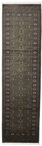 Pakistan Bokhara 2Ply Rug 81X300 Authentic  Oriental Handknotted Hallway Runner  Dark Grey (Wool, Pakistan)