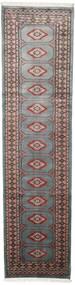 Pakistan Bokhara 2Ply Rug 75X295 Authentic  Oriental Handknotted Hallway Runner  Dark Grey/Black (Wool, Pakistan)