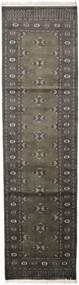 Pakistan Bokhara 2Ply Rug 81X306 Authentic  Oriental Handknotted Hallway Runner  Dark Grey/Light Grey (Wool, Pakistan)