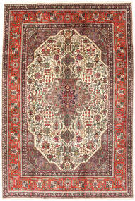 Tabriz Rug 194X288 Authentic  Oriental Handknotted Dark Brown/Light Brown (Wool, Persia/Iran)