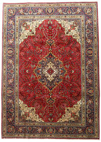 Tabriz Rug 201X283 Authentic  Oriental Handknotted Dark Brown/Light Brown (Wool, Persia/Iran)