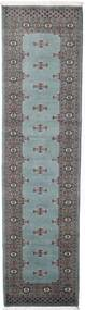 Pakistan Bokhara 2Ply Rug 81X312 Authentic  Oriental Handknotted Hallway Runner  Dark Grey/Light Grey (Wool, Pakistan)