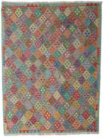 Kilim Afghan Old Style Rug 183X242 Authentic  Oriental Handwoven Light Grey/Dark Grey (Wool, Afghanistan)