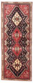 Afshar Rug 68X176 Authentic  Oriental Handknotted Hallway Runner  Dark Red/Dark Brown (Wool, Persia/Iran)