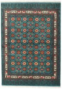 Turkaman Rug 136X187 Authentic Oriental Handknotted Dark Turquoise /Dark Grey (Wool, Persia/Iran)