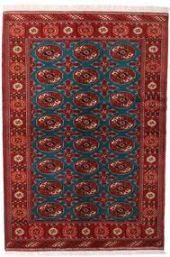 Turkaman Rug 132X195 Authentic  Oriental Handknotted Dark Red/Black (Wool, Persia/Iran)
