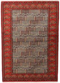 Turkaman Rug 137X193 Authentic  Oriental Handknotted Dark Brown/Dark Red (Wool, Persia/Iran)