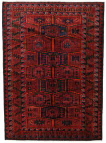 Lori Rug 182X248 Authentic Oriental Handknotted Dark Red/Black (Wool, Persia/Iran)