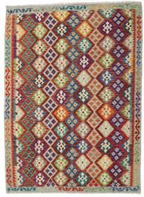 Kilim Afghan Old Style Rug 175X239 Authentic  Oriental Handwoven Dark Red/Light Grey (Wool, Afghanistan)