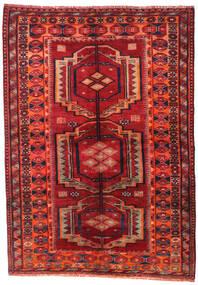 Lori Rug 158X223 Authentic Oriental Handknotted Dark Red/Rust Red (Wool, Persia/Iran)