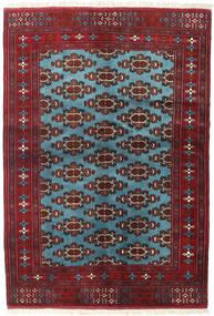 Turkaman Rug 133X190 Authentic Oriental Handknotted Dark Red/Blue (Wool, Persia/Iran)