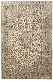 Keshan Rug 197X296 Authentic  Oriental Handknotted Light Grey/Beige (Wool, Persia/Iran)